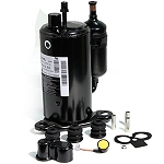 LG QK164CBL COMPRESSOR, ROTARY 12000 BTU 115/60/1    ****NOTE: REPLACES MATSUSHITA PANASONIC MODEL 2P17S3R126B-1A AND MCQUAY 067281303  OR TECUMSEH RKA5512EXA TECUMSEH RKA5512EXA RK147AT-002-A4Y MCQUAY 060907804