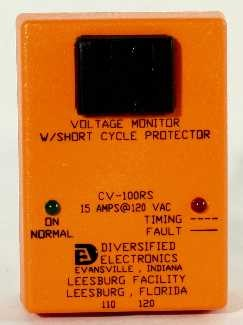 CV100RS CV-100RS ELECTRONIC MONITOR, 1-PHASE, UNDER/OVER VOLT/SHORT CYCLE, 110V, 15AMP  ***THIS ITEM IS OBSOLETE - REPLACED BY ICM491)
