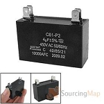 CHIGO 030010034R C61-P2 CP61-P2 FAN CAPACITOR 4MFD 450VAC  Same as 030010034