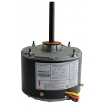Rheem 51-23055-11 PROTECH EMERSON K55HXNTL-4884 Motor, Condenser, 1/5HP, 208-230Vac, Single Phase, 1075 RPM, 1 Speed, 1.3 Amps, 48 Nema Frame Size, Totally Enclosed Enclosure, Sleeve Bearing, Shell-Band/Shell-Screw/Thru-Bolt Mount, 1/2