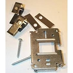 Johnson Controls T-4002-124 Mounting Bracket for Surface Mounting Thermostats and Covers, includes drywall clips, spacers, and mounting templates